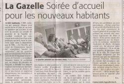 Accueil nouveaux habitants - Midi libre du 14 octobre 2009