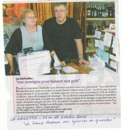 Les Chefsailles - La Gazette du 22 au 28 octobre 2009