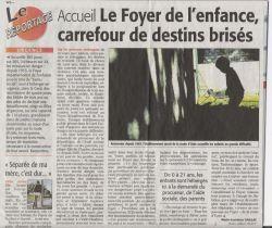 Foyer_enfance - Midi Libre du 15 octobre 2009