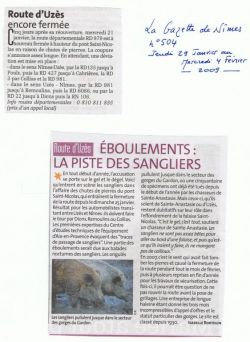 La Gazette N°504 - Fermeture route d