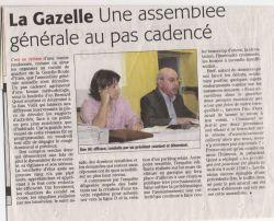 Midi Libre du 19 octobre 2010 : assemblée générale