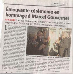 Midi Libre du 12/12/2011 - Inauguration salle Gouvernet