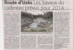 Midi Libre de mai 2010 - Aménagement du cadereau