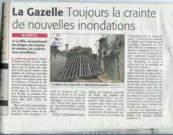 Midi Libre du 26 Mars 2010 - Crainte des inondations