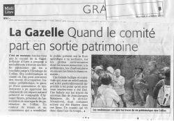 Midi Libre du 6 octobre 2010 - Randonnée patrimoine