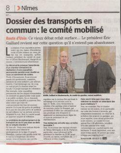 Midi Libre du 19 mai 2012 - Transports en garrigue