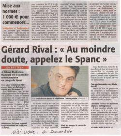 Midi Libre du 20 janvier 2010 - Le Spanc