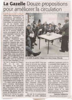 Débat public sur la circulation - Midi libre du 07/04/09