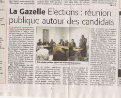 Reunion publique à la Gazelle