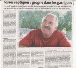 La Gazette de Nimes du 09 octobre 2008