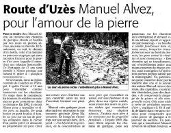 Midi Libre du 20 janvier 2010 - Manuel Alvez