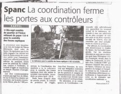 Spanc - Midi Libre du 07 mars 2009