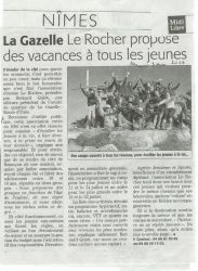 Midi Libre du 3 Mars 2010 - Association Le Rocher