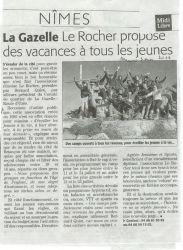 Midi Libre du 3 Mars 2010 - Association Le Rocher