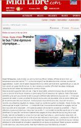 Midi Libre du 23 février 2010 - Les abris bus