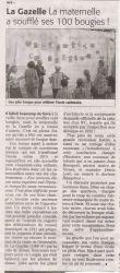 Midi Libre juin 2010 - Centenaire de l