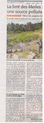 Midi Libre du 10/12/2011 - Source font des merles