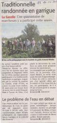 Midi Libre du 20 Avril 2013 - Rando-garrigues 2013