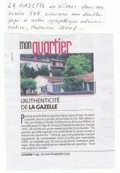 Mon quartier - La Gazette du 11 au 18 novembre 2009
